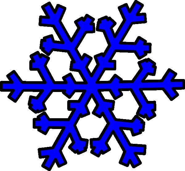 600x554 Blue Snowflake Clip Art