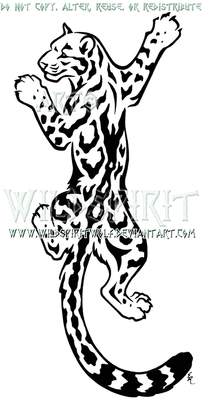 400x793 Leopard Clipart Tatto