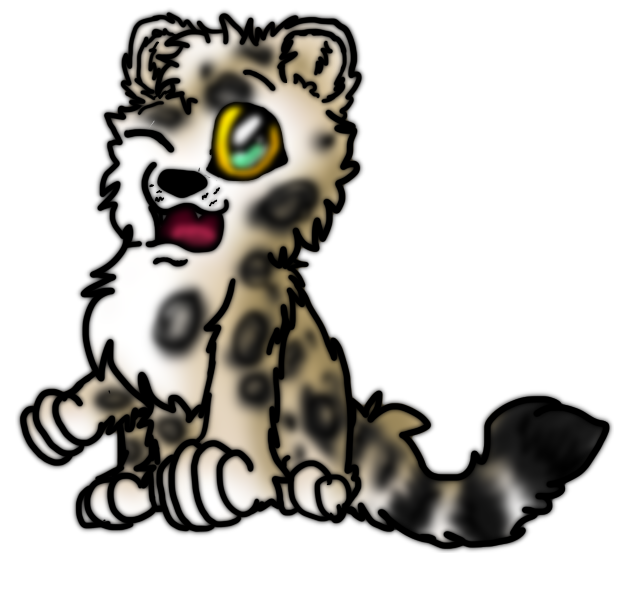 625x592 Snow Leopard Clipart Chibi