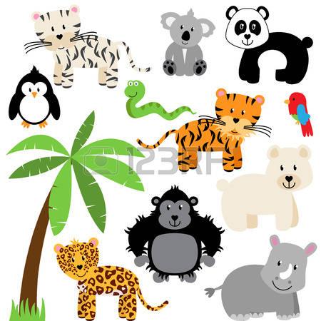 450x450 Snow Leopard Clipart Cute Cartoon