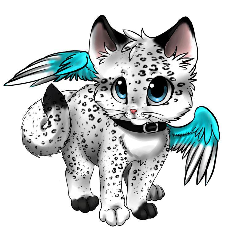 736x736 Snow Leopard Clipart Kawaii