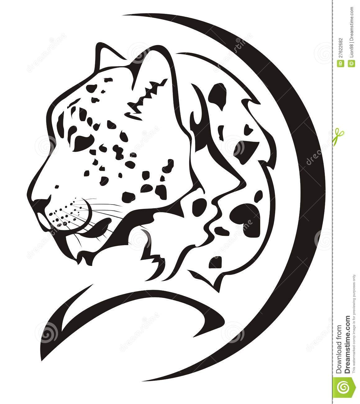 1159x1300 Snow Leopard Clipart Black And White
