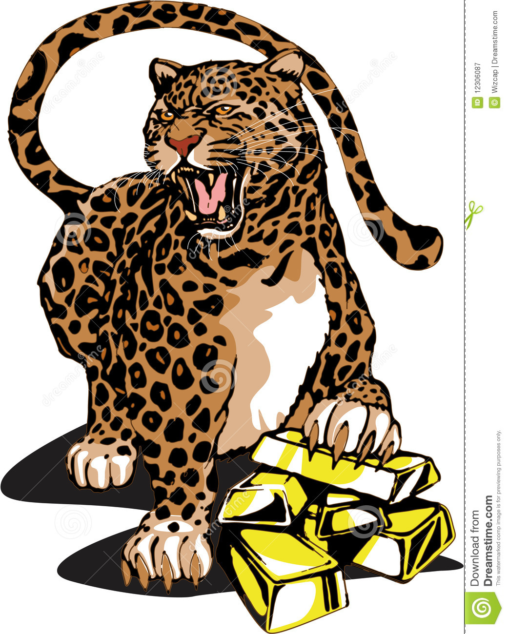 1041x1300 Chinese Leopard Clipart