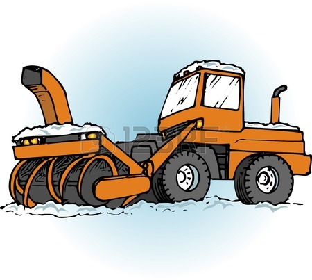 Snow Plowing Cliparts
