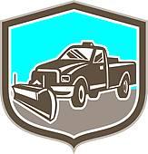 163x170 Clip Art Of Snow Plow Truck Retro K9802409
