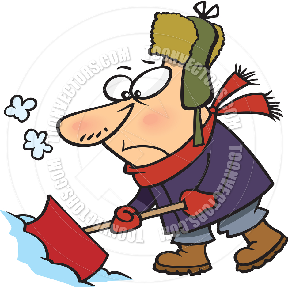 940x940 Animated Snow Shoveling Clipart