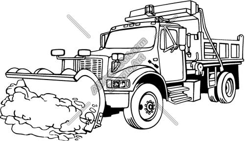 500x289 Truck Clipart Snow Plowing
