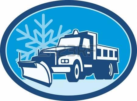 450x332 Snow Plow Cartoon Clipart