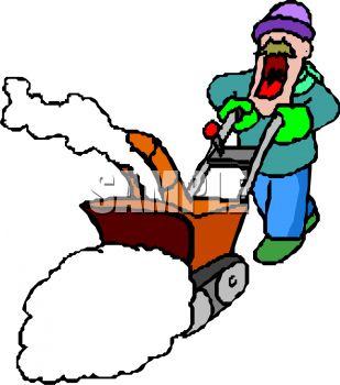 309x350 Man Using A Snow Blower