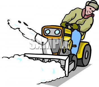 350x308 Cartoon Snow Plow Clipart