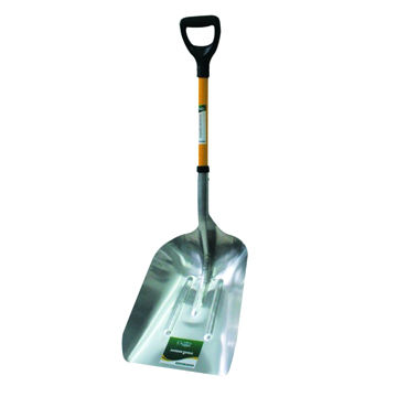 360x360 Carbon Steel Head Snow Shovel With Fiberglass Handle And D Grip