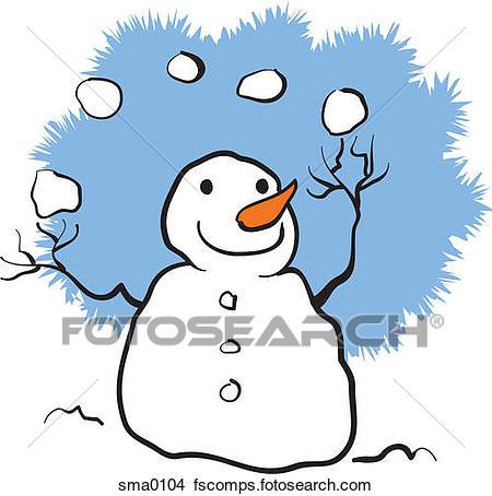 450x454 Drawings Of A Snowman Juggling Snowballs Sma0104