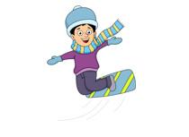 210x153 Skiing Clipart Ski Snowboard