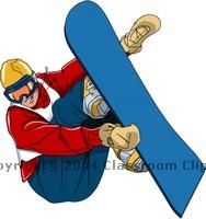 188x200 Snowboarding Clipart