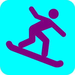 300x300 Snowboarding Icon Clip Art