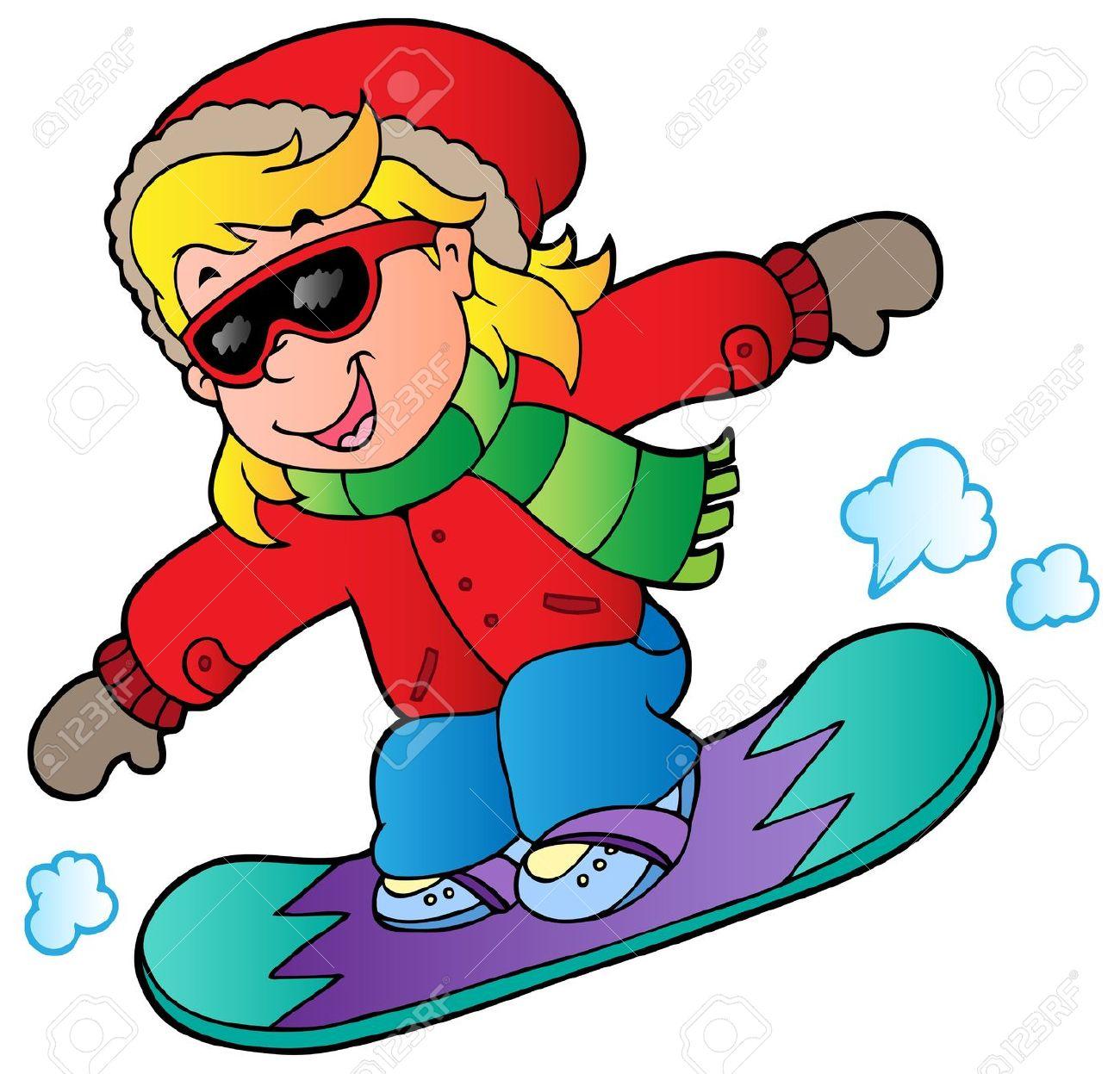 1300x1247 Snowboarding Clipart Cartoon