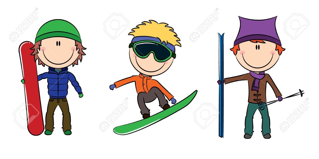 1300x650 Snowboarding Clipart Skiing