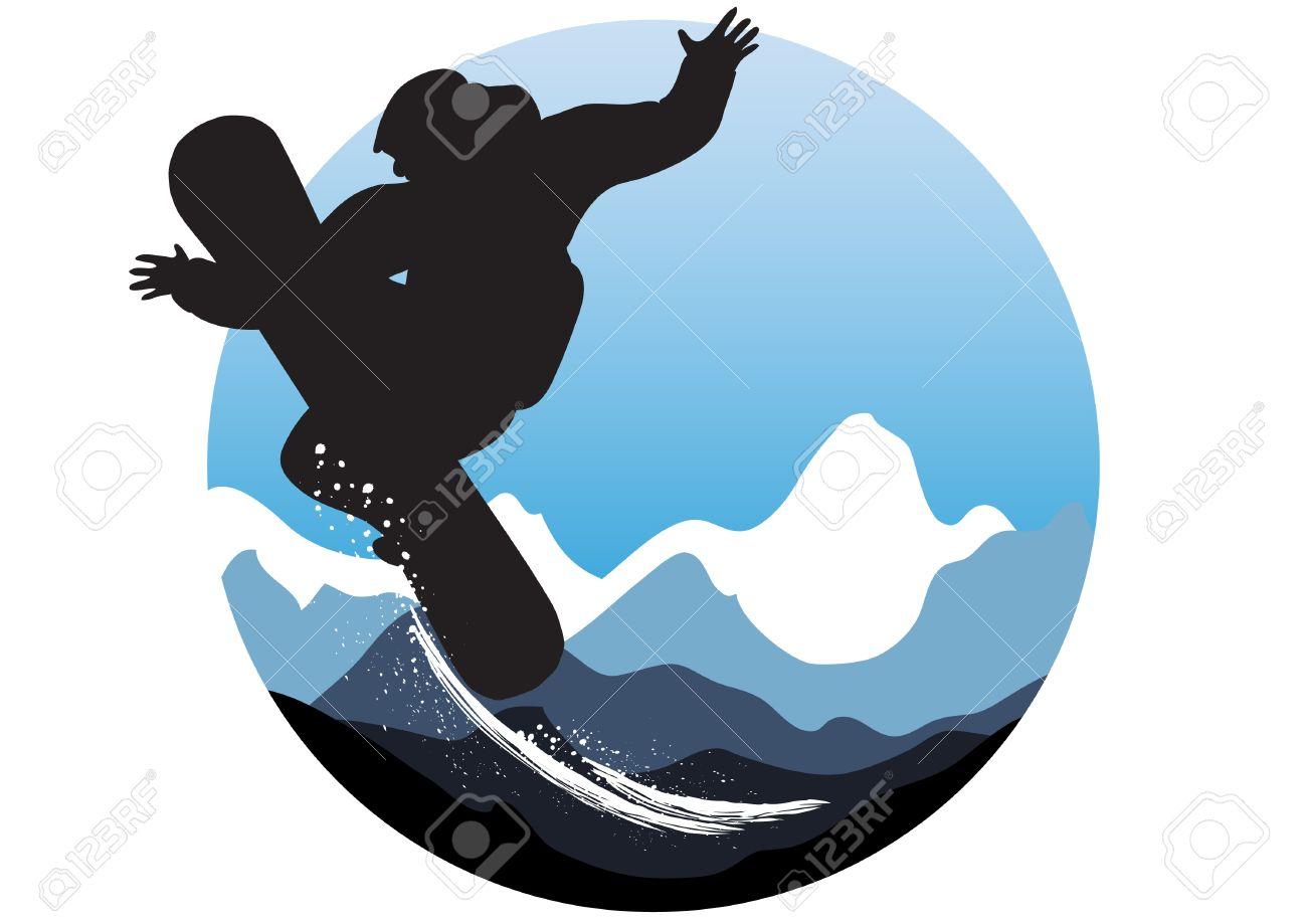 1300x919 Snowboarding Clipart Vector
