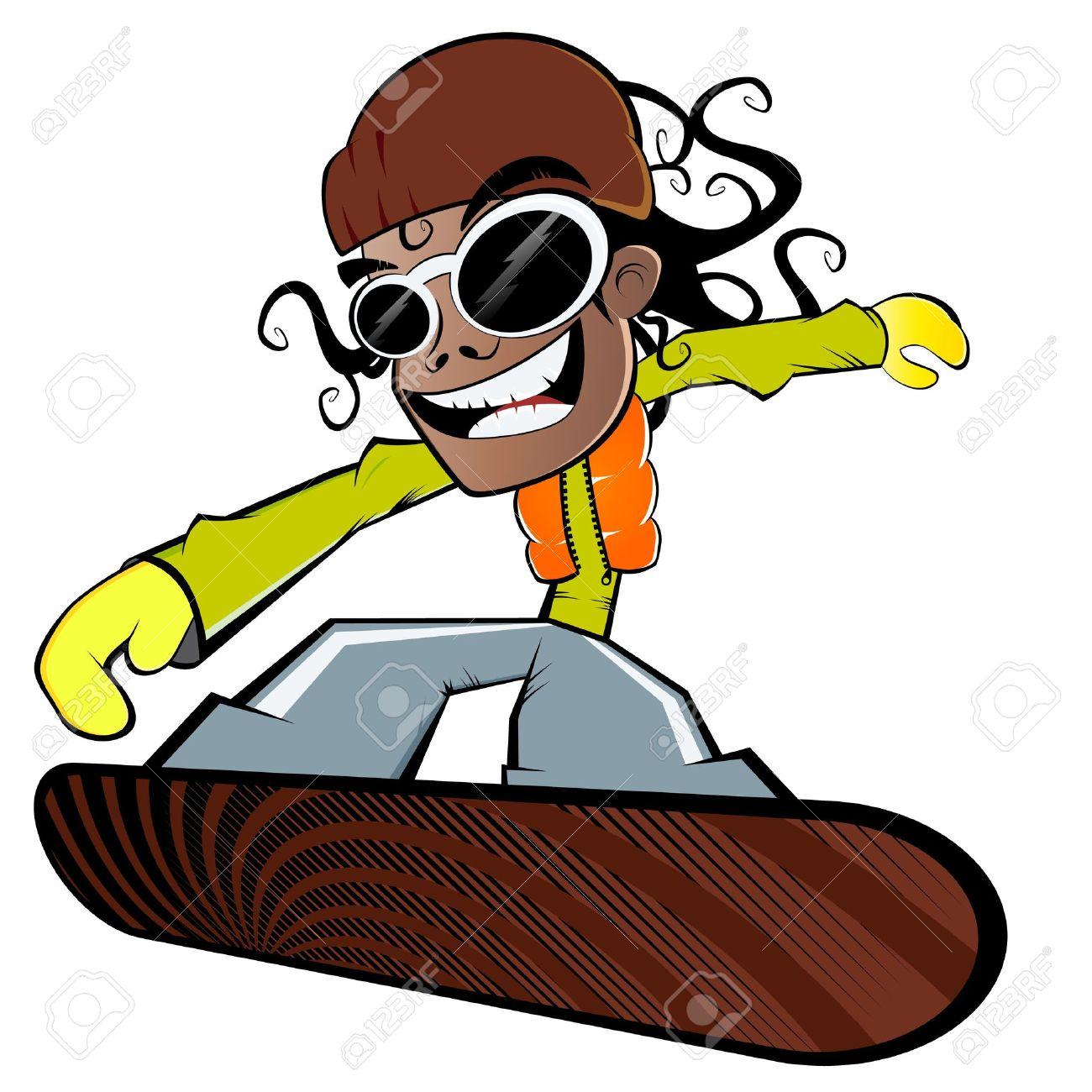 1300x1300 Funny Cartoon Snowboarder Royalty Free Cliparts, Vectors,