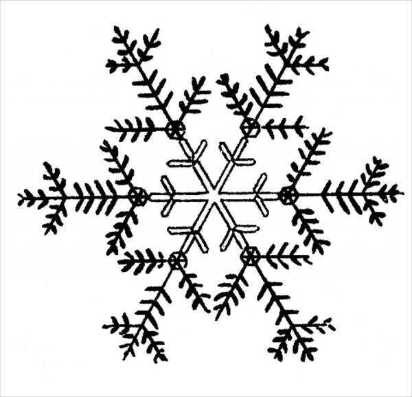Snowflake Black And White