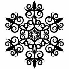 236x236 Black Snowflake Clipart Snowflake Black And Whiteblack And White