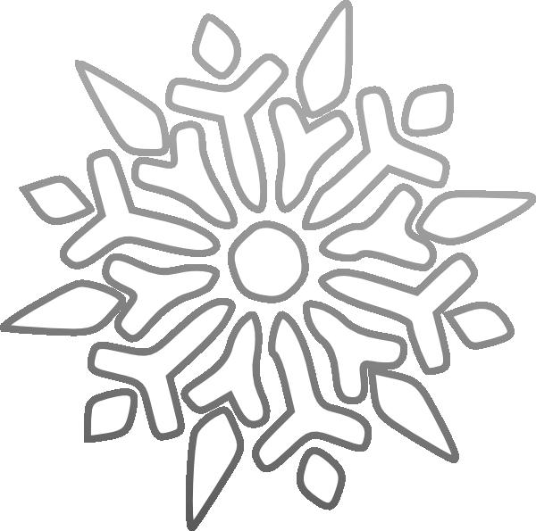 600x595 Snowflake Clip Art