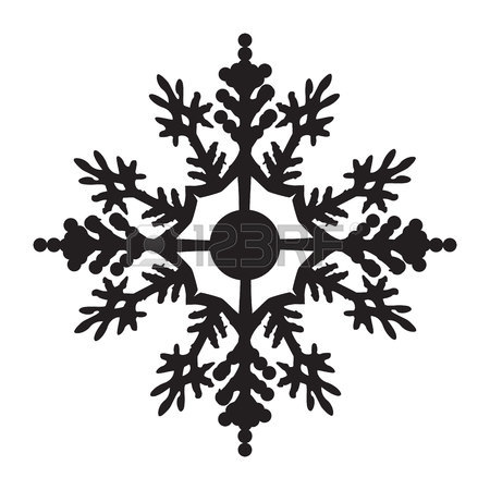 450x450 Snowflake Icon Graphic Black And White Royalty Free Cliparts