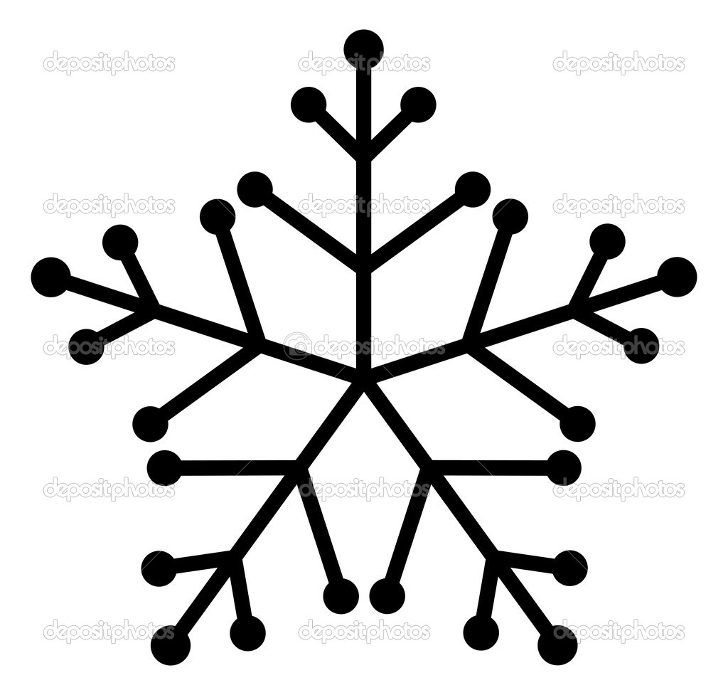 1024x977 Snowflake Clipart Line Drawing