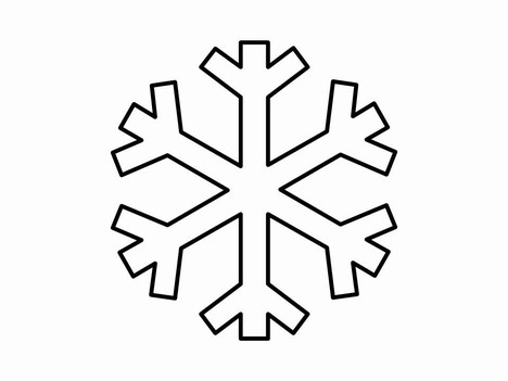 468x351 Templates Clipart Snowflake