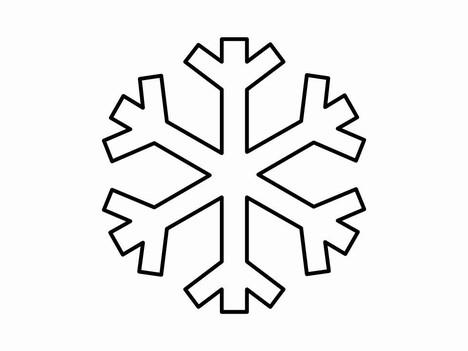 468x351 Templates clipart snowflake
