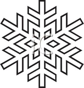 287x300 Art Image Black And White Snowflake