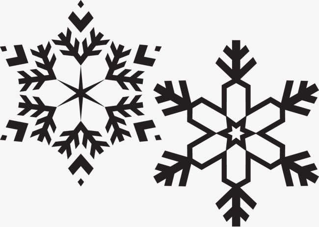 650x463 black and white snowflakes, Snowflake, Vector, Christian PNG and