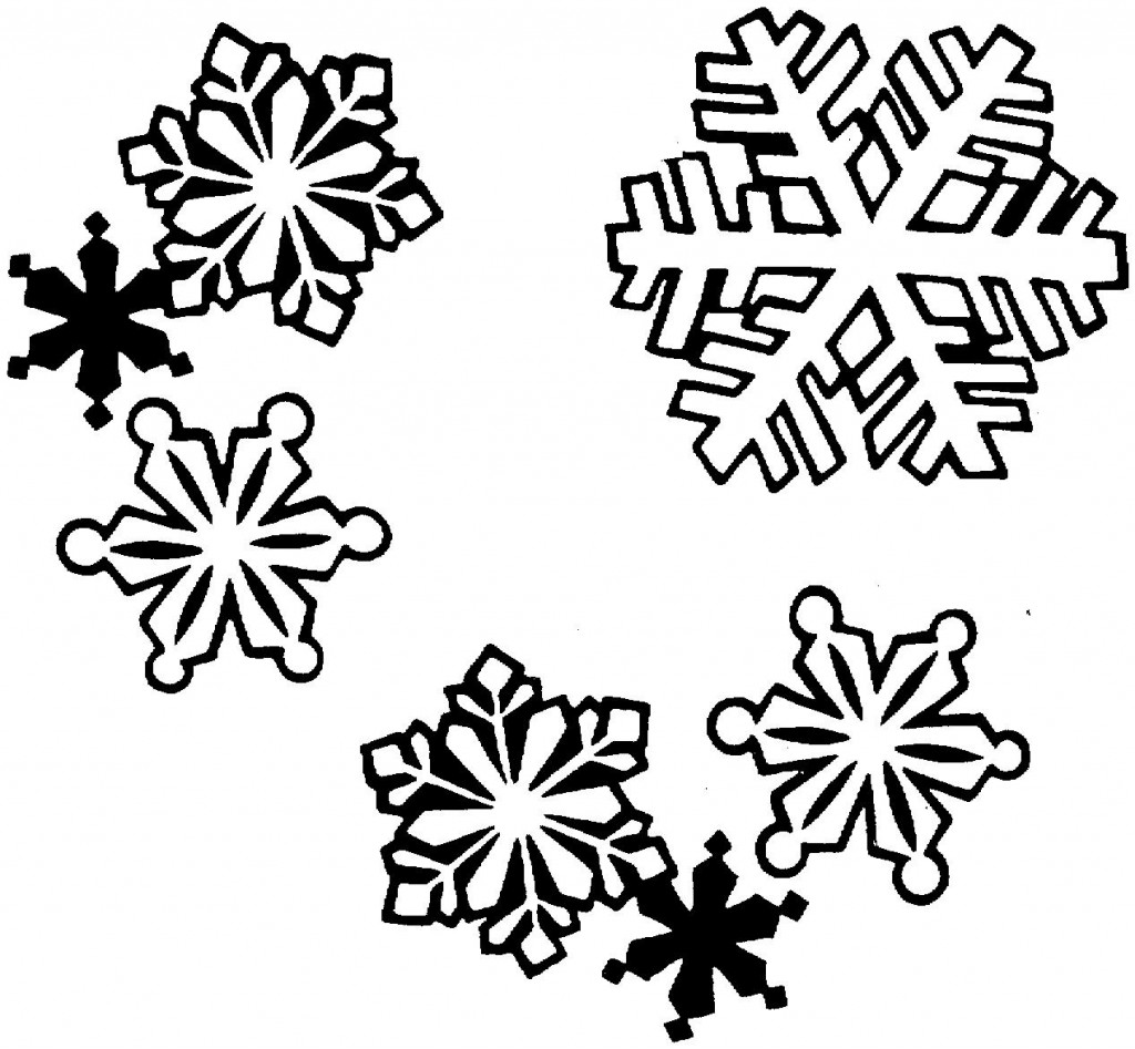 1024x947 Christmas Clipart Black And White Snowflake