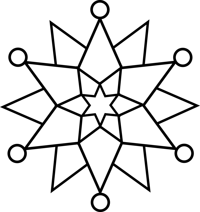 830x880 Black And White Snowflake