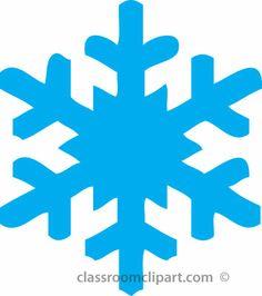 Cute Snowflake Border Clipart