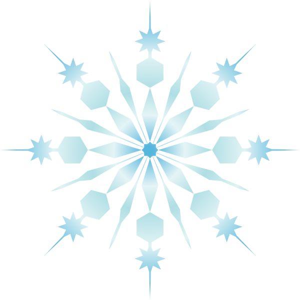 600x600 Public Domain Snowflake Clipart