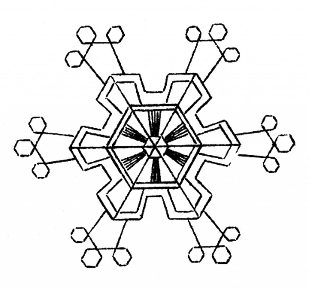 1024x957 Snowflake Clipart Free