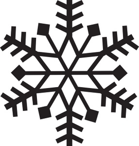 286x300 Snowflake Clipart Image