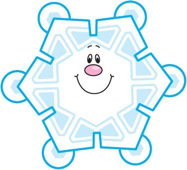 375x342 Snowflake Clipart Smile