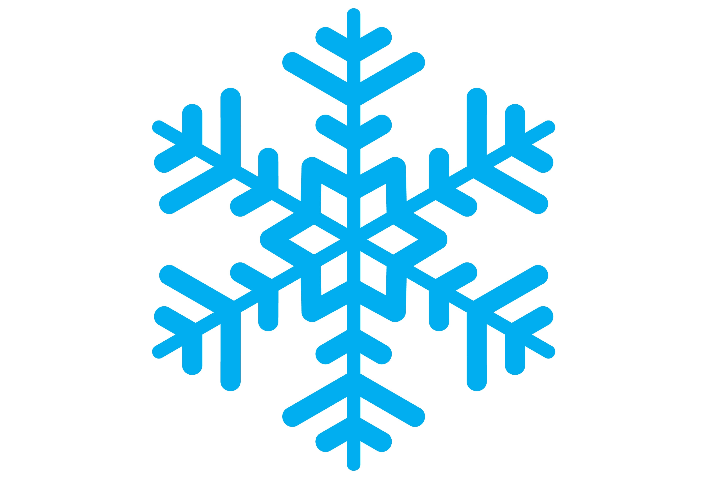 2800x1900 Vector and Simple Blue Snowflake Clipart 301 Favorite