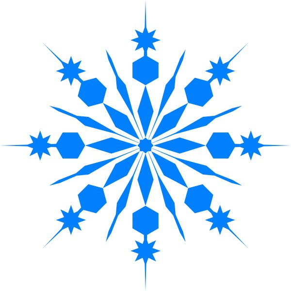 600x600 Winter clipart snowflake