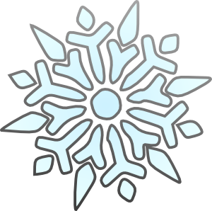 300x298 Erik Single Snowflake Clip Art