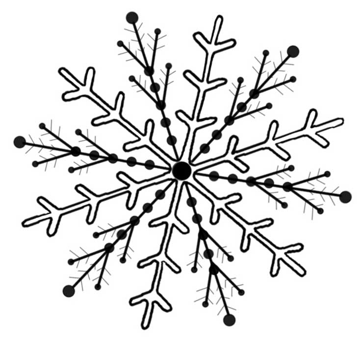 736x697 Free Clipart Black With White Snowflakes Background