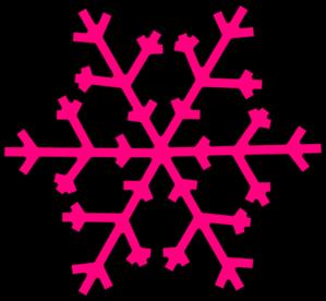 299x276 Pink Snowflake Clip Art