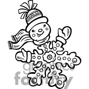300x300 Snowflake Clipart Drawn