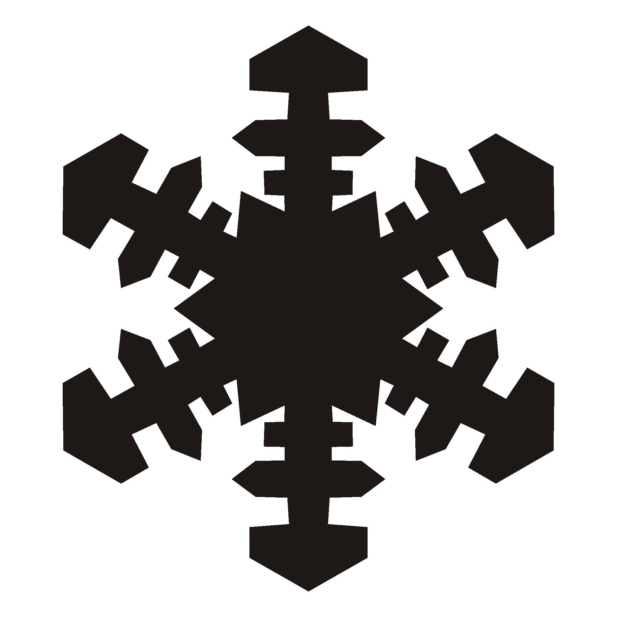 1979x1979 Snowflake Clipart Silhouette