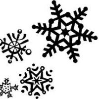 200x200 Clipart Snowflakes