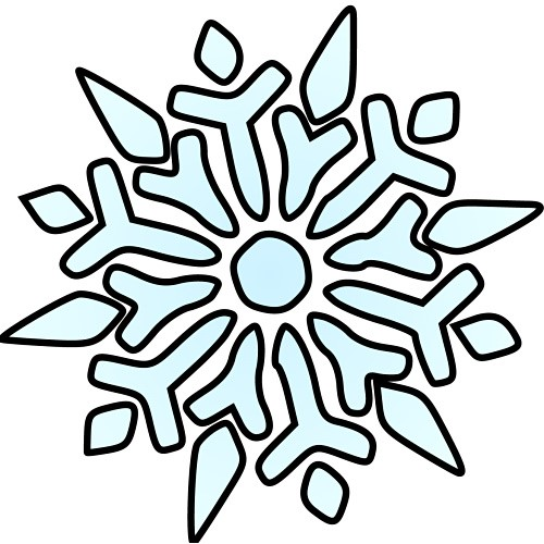 500x500 Free christmas snowflake clipart snowflakes for christmas