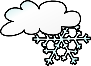 300x217 Snowflake Clipart Winter Weather
