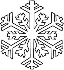 211x230 Color In Graphic Snowflake Patterns Beautiful Clip Art Picture